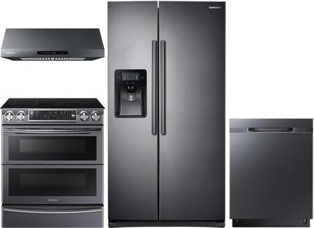 4 Piece Kitchen Appliance Package with RS25J500DSG 36