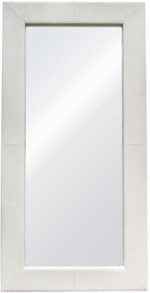 Luxe LUXEMIWHCR 2 inch  x 78 inch  Free-Standing Mirror w/ Locking Easel Mechanism in White Croc