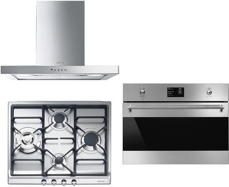 3-Piece Kitchen Package with SR60GHU3 24 inch  Gas Cooktop  SU45MCX1 24 inch  Single Wall Oven  and KSM24XU 24 inch  Wall Mount