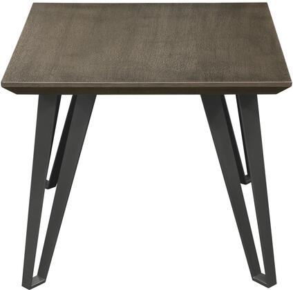 Sigma SIGMAET 24 inch  x 24 inch  Square End Table with Chestnut Veneer Top with Tapered Apron and Grey Powder Coat Iron