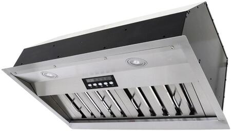 INX2630SQB-700-2 30 inch  Cabinet Insert Range Hood with 750 CFM internal blower  4 Speeds  Wireless Remote Control  Push Button Control with LED Display