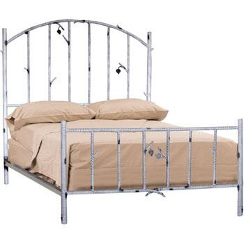 958-054 Whisper Creek Full Iron Bed (ivory
