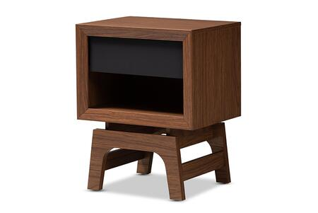 WI1704-Walnut/Grey-NS Baxton Studio Svante Mid-Century Modern Walnut Brown and Dark Gray Finished Wood 1-Drawer