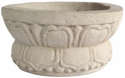 Athena Collection PL-R1685 16 Planter with Cast Limestone Construction and Ancient Artwork in Natural