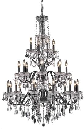 V2015G36DB/RC 2015 St. Francis Collection Chandelier D:36In H:49In Lt:24 Dark Bronze Finish (Royal Cut