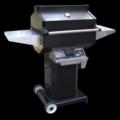 PFMGBOCN Natural Gas Grill with 25 000 BTUs  400 sq. in. Primary Cooking Area  Cast Aluminum End Caps and Grill Head  Column and Base with 6 inch  Rubber Wheels in