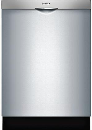 """Bosch 300 Series 24"""" Scoop Handle Dishwasher with Stainless Steel Tub Stainless Steel SHSM63W55N"""