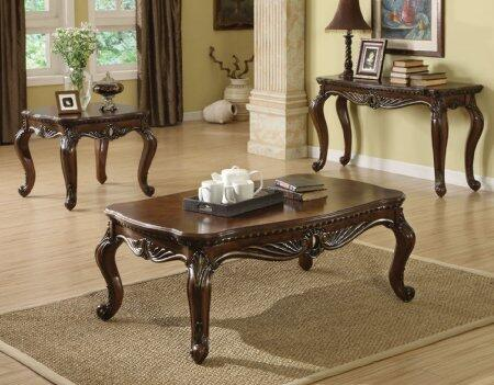8006456 Remington 3 PC Table Sets with Coffee Table + End Table + Sofa Table in Cherry