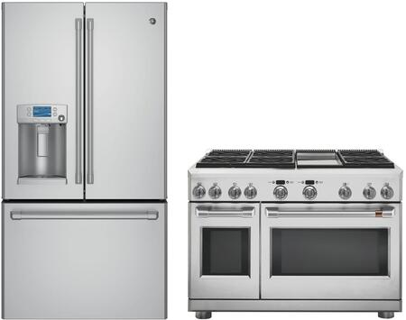 2 Piece Stainless Steel Kitchen Package with CFE28USHSS 36