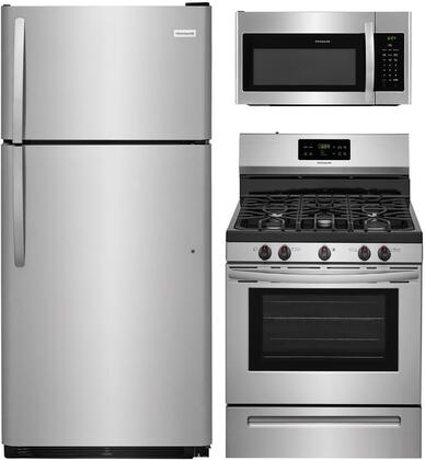 3_Piece_Kitchen_Appliances_Package_with_FFTR1821TS_30_Top_Freezer_Refrigerator__FFGF3054TS_30_Gas_Range_and_FFMV1645TS_30_Over_the_Range_Microwave