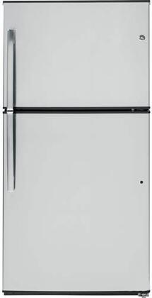 GE 21.2 Cu. Ft. Top-Freezer Refrigerator Stainless Steel GTE21GSHSS