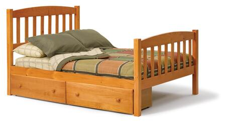 3643460-S Full Mission Bed with Underbed Storage