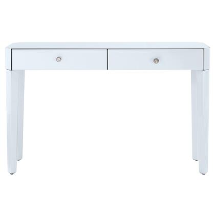 DSD114006 Reverse Painted White Glass Console