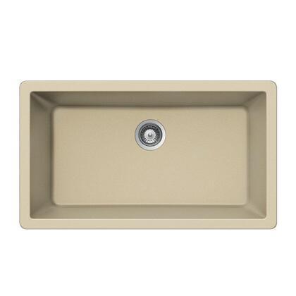 V-100U SAND Quartztone Series Granite Undermount Large Single Bowl Kitchen Sink