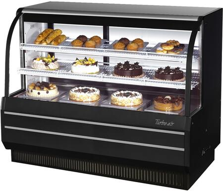 TCGB60BN_61_Curved_Glass_Refrigerated_Bakery_Display_Case_with_194_cu_ft_Capacity__Self_Cleaning_Condenser__Hydrocarbon_Refrigerants_and