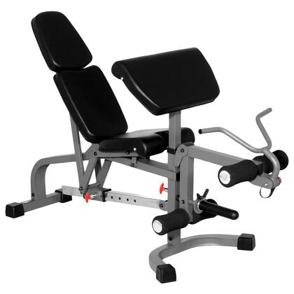 XM-4419 XMark FID Flat Incline Decline Weight Bench with Leg Extension and Preacher