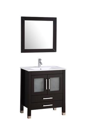 -8111DE Sweden 30 Single Sink Bathroom Vanity Set