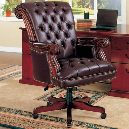 800142 Office Chairs Traditional Leather Executive Chair by