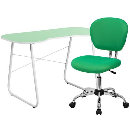 NAN-12-GG Green Computer Desk and Mesh