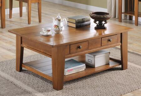 Ezra_Collection_5950-CT_Coffee_Table_with_2_Drawers__Bottom_Shelf__Solid_Hardwood_Construction__Oak_Veneer_and_Poplar_Material_in_Oak