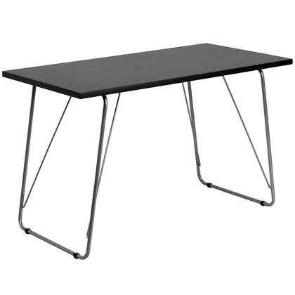 NAN-JN-2956-BK-GG Black Computer Desk with Silver