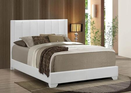 Moderno Collection King Size Bed with Low Profile Footboard  High Headboard  Solid Tropical Hardwood Construction  Wood Veneer Materials and Faux Leather