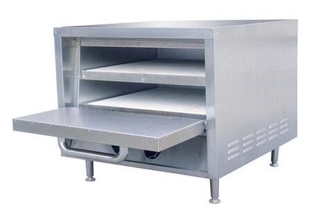 PO-18 23 inch  Pizza Oven with 2 Removable Ceramic Hearth Baking Shelves and 15 Minute Continuous Timer in Stainless