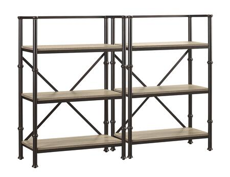 Durham LB-DUR-K-BS44X2 Bookcase Wall Set with Two 44