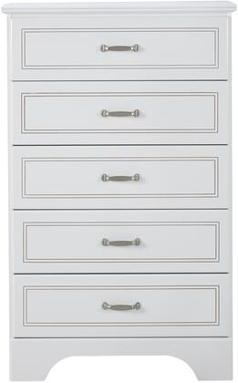 Claire Collection 67055 30 inch  Chest with 5 Drawers  Metal Hardware  Medium-Density Fiberboard