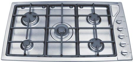 TG365IXGHNA 36 inch  Sealed Burner Gas Cooktop With 5 Burners  Cast Iron Continuous Grates  Handy Spoon Holder  Automatic Re-Ignition  Easy To Clean Surface  In
