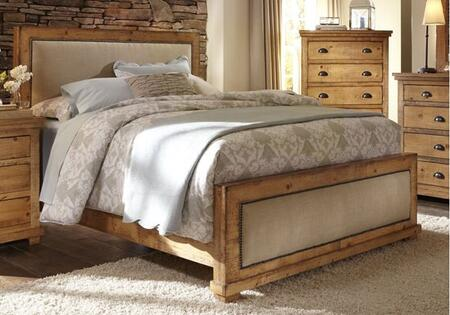 Willow P608-94-95-78 King Upholstered Bed with Headboard  Footboard and Side Rails in Distressed