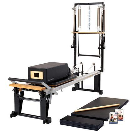 ST01085 Rehab V2 Max Plus Reformer Bundle: Rehab V2 Max Plus Reformer  Mat Converter  Padded Platform Extender  Reformer Box with Footstrap  Maple Roll-Up Pole