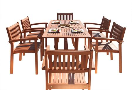 V187SET4 Malibu Eco-Friendly 7-Piece Wood Outdoor Dining