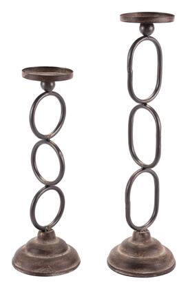 A10662 Set of 2 Chain Candle Holders