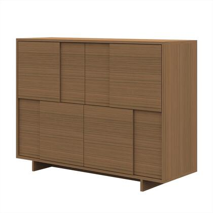 CP1107E-K02-MP Timber Buffet with Clean Architectural Lines and Molding Detail in Light Birch