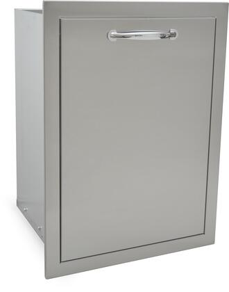 SODXTD25X17 25 inch  x 17 inch  Built In Deluxe Stainless Steel Trash Drawer Lined and Raised with a Flush Mount and Self Rimming