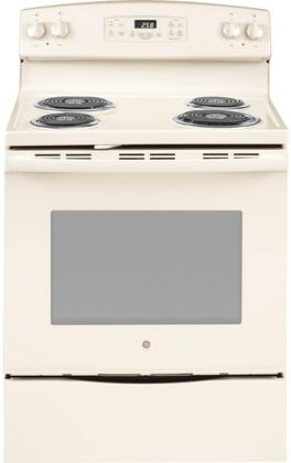 GE JB258DMCC 30 Freestanding Electric Range with 4 Coil Elements 5.3 cu. ft. Oven Capacity Self-Cleaning Oven