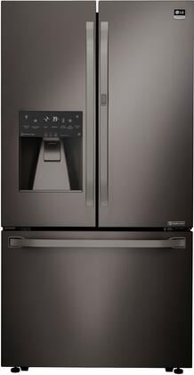 LSFXC2476D 36 inch  Energy Star Rated Counter-Depth French Door Refrigerator with 23.5 cu. ft. Capacity  External Ice and Water Dispenser and Slim SpacePlus Ice