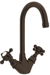A1467XMTCB-2 Italian Country Kitchen Collection Deck Mounted C-Spout Bar Faucet with 5