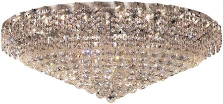 VECA1F36C/RC Belenus Collection Flush Mount D:36In H:18In Lt:20 Chrome Finish (Royal Cut