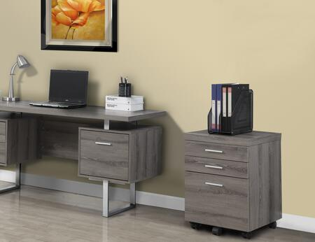 I 7049 Filing Cabinet - 3 Drawer / Dark Taupe On