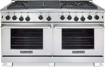 """ARR-6062GR-N 60"""" Heritage Series Natural Gas Range with Two 4.4 Cu. Ft. Capacity Ovens  6 Sealed Burners  22"""" Grill and Innovection System  in Stainless"""