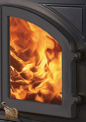 MHE-SD-B Cast-Iron Single Fireplace Door from the Bordeaux Collection