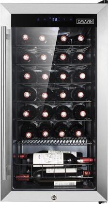 B-028WSZ Wine Cooler with 28 Bottle Capacity  LED Lighting  One-Touch LED Digital Controls  Security Lock  Automatic Defrost  in Stainless