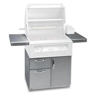 "XE-30CD 30"" Deluxe Grill Cart with Door and Drawers in Stainless"