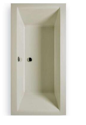 C7236TOW Chios Rectangular Bathtub With Center Drain: