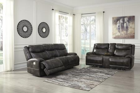 Brinlack Collection 85602-15-18 2-Piece Living Room Sets with Motion Sofa  and Loveseat in