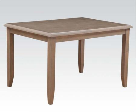Farnley Collection 71225 48 inch  Dining Table with Rectangle Shape  Tapered Legs and Acacia Veneer Materials in Ash White