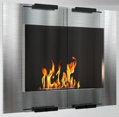 C-106A SS 8000 BTU Bioethanol Liquid Fuel Fireplace: City Stainless
