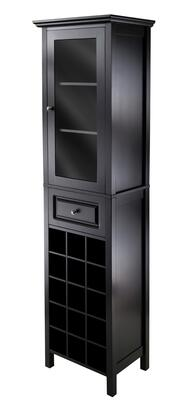 20667 Burgundy Wine Cabinet 15-Bottle  Glass